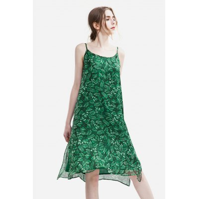 Slim Chiffon Floral Print Female Dress