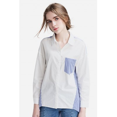 Loose Striped Blouse for Women
