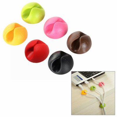 6Pcs Practical Desktop Wire Cable ClipsClips<br>6Pcs Practical Desktop Wire Cable Clips<br><br>For: All<br>Functions: Multi-functions<br>Material: PVC<br>Occasion: Others, School, Bedroom, Home, Office<br>Package Contents: 6 x Cable Clip<br>Package size (L x W x H): 3.80 x 3.80 x 2.60 cm / 1.5 x 1.5 x 1.02 inches<br>Package weight: 0.1000 kg<br>Product size (L x W x H): 2.80 x 2.80 x 1.60 cm / 1.1 x 1.1 x 0.63 inches<br>Product weight: 0.0450 kg<br>Type: Safety, Practical, Novelty, Decoration