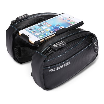 ROSWHEEL Bike Top Tube BagBike Bags<br>ROSWHEEL Bike Top Tube Bag<br><br>Brand: Roswheel<br>Color: Black<br>Emplacement: Front Tube<br>For: Unisex<br>Material: PVC, PU<br>Model Number: 161406<br>Package Contents: 1 x ROSWHEEL Bike Tube Bag<br>Package Dimension: 19.00 x 11.00 x 8.00 cm / 7.48 x 4.33 x 3.15 inches<br>Package weight: 0.2700 kg<br>Product Dimension: 17.00 x 10.00 x 4.00 cm / 6.69 x 3.94 x 1.57 inches<br>Product weight: 0.2400 kg<br>Suitable for: Mountain Bicycle, Fixed Gear Bicycle, Cross-Country Cycling, Road Bike, Touring Bicycle