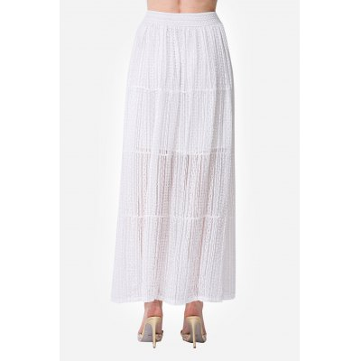 Lace Solid Color Elastic Waist Women Long SkirtSkirts<br>Lace Solid Color Elastic Waist Women Long Skirt<br><br>Dresses Length: Maxi<br>Embellishment: See Thru<br>Material: Polyester<br>Occasion: Work, Beach and Summer<br>Package Contents: 1 x Skirt<br>Package size: 35.00 x 4.00 x 28.00 cm / 13.78 x 1.57 x 11.02 inches<br>Package weight: 0.3600 kg<br>Pattern Type: Solid Color<br>Product weight: 0.3200 kg<br>Season: Summer<br>Silhouette: Pencil<br>Size: L,M,S<br>Style: Cute<br>With Belt: No