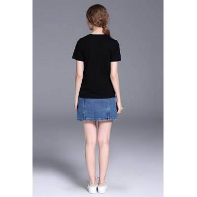Loose Short Sleeve Women Cotton T-shirtTees<br>Loose Short Sleeve Women Cotton T-shirt<br><br>Clothing Length: Regular<br>Collar: Round Collar<br>Color: Black,White<br>Material: Cotton<br>Package Contents: 1 x T-shirt<br>Package size: 29.00 x 29.00 x 2.00 cm / 11.42 x 11.42 x 0.79 inches<br>Package weight: 0.1700 kg<br>Pattern Type: Solid Color<br>Product weight: 0.1100 kg<br>Season: Summer<br>Size: L,M,S,XL<br>Sleeve Length: Short Sleeves<br>Style: Fashion