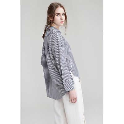 Long Sleeve Pinstripe Shirt for WomenBlouses<br>Long Sleeve Pinstripe Shirt for Women<br><br>Collar: Turn-down Collar<br>Elasticity: Nonelastic<br>Embellishment: Button<br>Material: Cotton<br>Package Content: 1 x Shirt<br>Package size (L x W x H): 35.00 x 4.00 x 28.00 cm / 13.78 x 1.57 x 11.02 inches<br>Package weight: 0.3400 kg<br>Pattern Type: Stripe<br>Product weight: 0.2800 kg<br>Season: Summer, Spring<br>Shirt Length: Regular<br>Sleeve Length: Long Sleeves<br>Style: Fashion