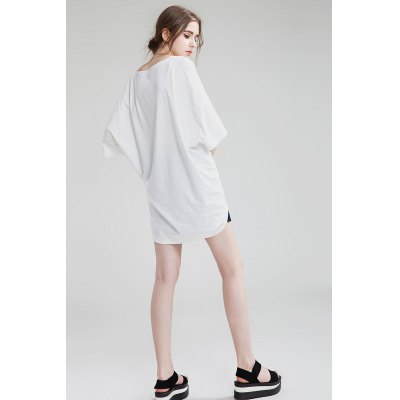 Loose Round Collar Short Sleeve Letter Print Long T-shirt for WomenTees<br>Loose Round Collar Short Sleeve Letter Print Long T-shirt for Women<br><br>Clothing Length: Long<br>Collar: Round Neck<br>Color: Gray,White<br>Material: Polyester<br>Package Contents: 1 x T-shirt<br>Package size: 36.00 x 3.00 x 26.00 cm / 14.17 x 1.18 x 10.24 inches<br>Package weight: 0.3000 kg<br>Pattern Type: Letter<br>Product weight: 0.2600 kg<br>Season: Summer<br>Size: One Size<br>Sleeve Length: Short Sleeves<br>Style: Fashion