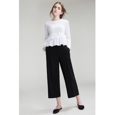 Wide Cropped Trousers