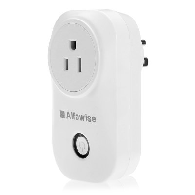 Alfawise WiFi Smart Socket PlugPower Strips<br>Alfawise WiFi Smart Socket Plug<br><br>Brand: Alfawise<br>Color: White<br>For: Adults, Men, Teenagers, Women<br>Material: Others<br>Occasion: Office, Living Room, Kitchen Room, Home, Dining Room, Bedroom<br>Package Contents: 1 x Alfawise Smart Plug, 1 x English User Manual<br>Package size (L x W x H): 13.10 x 9.10 x 9.00 cm / 5.16 x 3.58 x 3.54 inches<br>Package weight: 0.1860 kg<br>Product size (L x W x H): 10.50 x 4.70 x 5.90 cm / 4.13 x 1.85 x 2.32 inches<br>Product weight: 0.1170 kg<br>Type: Practical