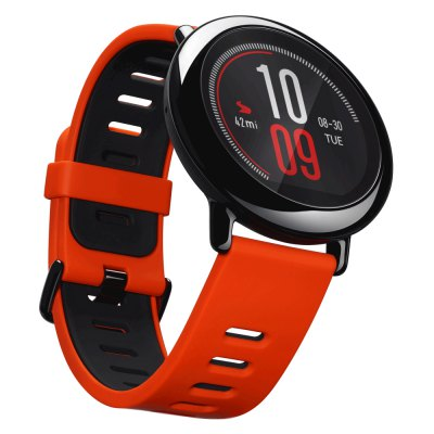 Original Xiaomi AMAZFIT Sports Bluetooth Smart WatchSmart Watches<br>Original Xiaomi AMAZFIT Sports Bluetooth Smart Watch<br><br>Alert type: Vibration<br>Available Color: Black,Red<br>Band material: Silicone<br>Band size: 24.5 x 4 cm / 9.65 x 1.57 inches<br>Battery  Capacity: 280mAh<br>Bluetooth calling: Phone call reminder<br>Bluetooth Version: Bluetooth 4.0<br>Brand: Xiaomi<br>Case material: Ceramic<br>Charging Time: About 3hours<br>Compatability: Android 4.4 / iOS 8.0 and above system<br>Compatible OS: Android<br>Dial size: 4.5 x 4.5 x 1.2 cm / 1.77 x 1.77 x 0.47 inches<br>Health tracker: Heart rate monitor,Pedometer<br>IP rating: IP67<br>Messaging: Message reminder<br>Operating mode: Touch Screen<br>Other Function: Weather forecast, GPS, Alarm, WiFi<br>Package Contents: 1 x Original Xiaomi AMAZFIT Sports Smart Watch, 1 x USB Charging Cable, 1 x English User Manual<br>Package size (L x W x H): 14.60 x 12.60 x 6.00 cm / 5.75 x 4.96 x 2.36 inches<br>Package weight: 0.2520 kg<br>People: Female table,Male table<br>Product size (L x W x H): 24.50 x 4.50 x 1.20 cm / 9.65 x 1.77 x 0.47 inches<br>Product weight: 0.0540 kg<br>RAM: 512MB<br>Remote control function: Remote music<br>ROM: 4GB<br>Shape of the dial: Round<br>Standby time: 5 Days<br>Type of battery: Lithium Polymer Battery<br>Waterproof: Yes