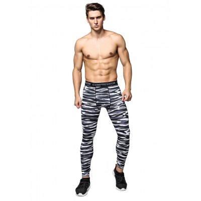 Fitness Quick-drying Striped Training Pants for Men