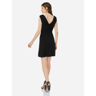 ZANSTYLE Women Black Sleeveless DressSleeveless Dresses<br>ZANSTYLE Women Black Sleeveless Dress<br>