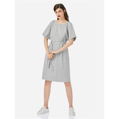 ZANSTYLE Woman Heather Gray DressMidi-Dress<br>ZANSTYLE Woman Heather Gray Dress<br>