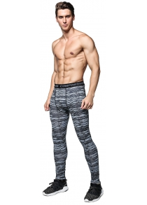 Striped Training Compression Tights