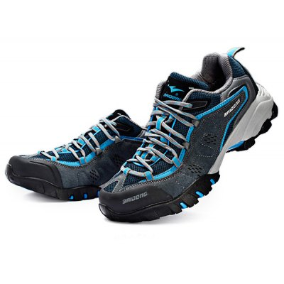 BAIDENG Outdoor Men Breathable Mesh Trekking Shoes
