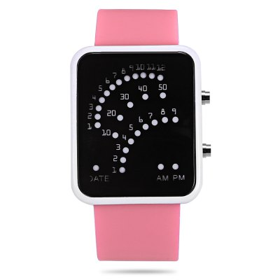 HZ302B Multifunctional LED Sports WatchLED Watches<br>HZ302B Multifunctional LED Sports Watch<br><br>Band material: Rubber<br>Band size: 24.50 x 2.50 cm / 9.65 x 0.98 inches<br>Case material: ABS<br>Clasp type: Pin buckle<br>Dial size: 4.50 x 4.50 x 1.00 cm / 1.77 x 1.77 x 0.39 inches<br>Display type: Digital<br>Movement type: Digital watch<br>Package Contents: 1 x LED Watch<br>Package size (L x W x H): 11.00 x 5.50 x 5.50 cm / 4.33 x 2.17 x 2.17 inches<br>Package weight: 0.1950 kg<br>People: Children table<br>Product size (L x W x H): 24.50 x 4.50 x 1.00 cm / 9.65 x 1.77 x 0.39 inches<br>Product weight: 0.1550 kg<br>Shape of the dial: Rectangle<br>Special features: Date<br>Watch color: White, Black, Peach Pink, Blue, Purple<br>Watch style: Casual<br>Wearable length: 18.80 - 23.00 cm / 7.40 - 9.06 inches