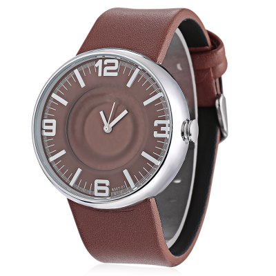 MILER 8307 Women Leather Band Quartz Watch