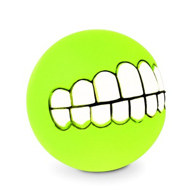 Pet dog chew toy soft bucktooth pattern squeaky ball...