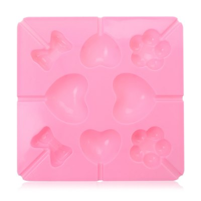 Heart Lollipop Silicone Cake Cookie Mold