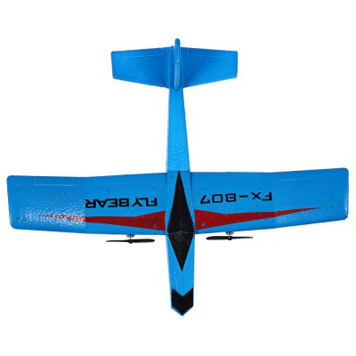 FX 807 RC 2.4GHz GliderRC Airplanes<br>FX 807 RC 2.4GHz Glider<br><br>Age: Above 8 years old<br>Channel: 2-Channels<br>Detailed Control Distance: 80~100m<br>Features: Radio Control<br>Functions: Turn left/right, Up/down<br>Helicopter Power: Built-in rechargeable battery<br>Mode: Mode 2 (Left Hand Throttle)<br>Package Contents: 1 x Glider, 1 x Controller, 1 x USB Cable, 1 x Landing Gear, 2 x Blade<br>Package size (L x W x H): 36.00 x 30.00 x 8.00 cm / 14.17 x 11.81 x 3.15 inches<br>Package weight: 0.5200 kg<br>Product size (L x W x H): 28.00 x 31.00 x 8.00 cm / 11.02 x 12.2 x 3.15 inches<br>Product weight: 0.0250 kg<br>Remote Control: 2.4GHz Wireless Remote Control<br>Transmitter Power: 6 x 1.5V AA battery (not included)<br>Type: RC Helicopters