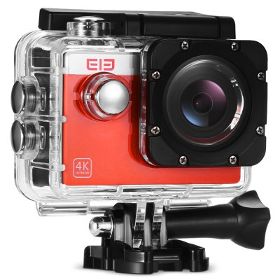 Elephone ELECAM Explorer S 4K Action Camera 170 Degree FOVAction Cameras<br>Elephone ELECAM Explorer S 4K Action Camera 170 Degree FOV<br><br>Aerial Photography: No<br>Anti-shake: No<br>Auto Focusing: No<br>Battery Capacity (mAh): 900mAh<br>Battery Type: Removable<br>Brand: Elephone<br>Camera Pixel : 16MP<br>Camera Timer: Yes<br>Charge way: USB charge by PC<br>Charging Time: 1.5h<br>Chipset: Allwinner V3<br>Chipset Name: Allwinner<br>Features: Wireless<br>Function: Camera Timer<br>Max External Card Supported: TF 32G (not included)<br>Microphone: Built-in<br>Model: ELECAM Explorer S<br>Night vision : No<br>Package Contents: 1 x MGCOOL Explorer 1S Action Camera, 1 x Waterproof Housing + Screw + Mount, 1 x English User Manual, 1 x Backdoor, 1 x Clip, 1 x Frame, 1 x Bicycle Mount, 1 x J-shaped Mount, 3 x Connector + Screw,<br>Package size (L x W x H): 28.70 x 12.70 x 7.10 cm / 11.3 x 5 x 2.8 inches<br>Package weight: 0.5580 kg<br>Product size (L x W x H): 6.00 x 4.20 x 3.00 cm / 2.36 x 1.65 x 1.18 inches<br>Product weight: 0.0600 kg<br>Screen resolution: 320x240<br>Screen size: 2.0inch<br>Sensor: CMOS<br>Sensor size (inch): 1/3.2<br>Standby time: 100 minutes at 1080P 30fps<br>Type: Sports Camera<br>Type of Camera: 4K, 1080P<br>Video format: MOV<br>Video Frame Rate: 120fps,30FPS,60FPS,90fps<br>Video Resolution: 1080P(60fps),4K (30fps)<br>Water Resistant: 30m<br>Waterproof: Yes<br>Wide Angle: 170 degree wide angle<br>WIFI: Yes<br>WiFi Distance : 10m<br>Working Time: 70 minutes