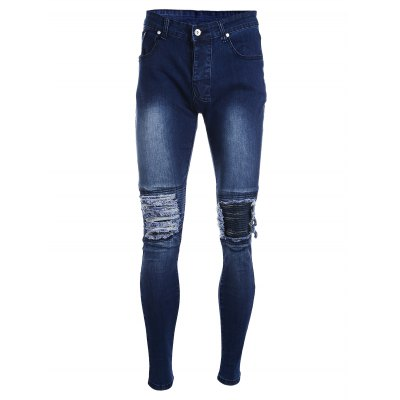 Slim Ripped Jeans with Straight Leg