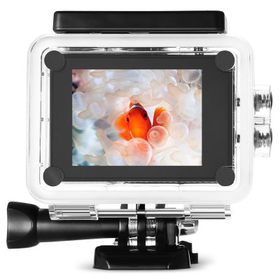 MGCOOL Explorer ES 3K Action Camera Allwinner V3 ChipsetAction Cameras<br>MGCOOL Explorer ES 3K Action Camera Allwinner V3 Chipset<br><br>Application: Extreme Sports, Underwater, Ski<br>Audio System: Built-in microphone/speaker (AAC)<br>Auto Focusing: Yes<br>Battery Capacity (mAh): 1050mAh<br>Battery Type: Removable<br>Brand: MGCOOL<br>Brand Name: MGCOOL<br>Camera Pixel : 16MP<br>Charge way: USB charge by PC<br>Charging Time: 2h<br>Chipset: Allwinner V3<br>Chipset Name: Allwinner<br>Decode Format: H.264<br>Features: Wireless<br>Function: Time Lapse, Remote Control, Auto Focusing, Waterproof, WiFi<br>Image Format : JPEG<br>ISO: ISO800<br>Lens Diameter: 20mm<br>Max External Card Supported: TF 64G (not included)<br>Microphone: Built-in<br>Model: Explorer ES<br>Package Contents: 1 x Action Camera with Waterproof Case, 1 x Camera Bracket, 1 x Clip, 1 x USB Data Cable ( 64cm ), 1 x Bicycle Stand, 2 x Helmet Base, 1 x Connector + Screw, 1 x English User Manual<br>Package size (L x W x H): 11.80 x 11.80 x 11.30 cm / 4.65 x 4.65 x 4.45 inches<br>Package weight: 0.4680 kg<br>Product size (L x W x H): 5.90 x 4.10 x 3.00 cm / 2.32 x 1.61 x 1.18 inches<br>Product weight: 0.0600 kg<br>Screen: With Screen<br>Screen resolution: 320x240<br>Screen size: 2.0inch<br>Standby time: 5 days<br>System requirements: Windows 2000 / XP / Vista<br>Time lapse: Yes<br>Type: Sports Camera<br>Type of Camera: 3K<br>Video format: MP4<br>Video Frame Rate: 120fps,15fps,30FPS,60FPS<br>Video Resolution: 1080P (1920 x 1080),1800P ( 3200 x 1800 ),2.7K (30fps),720P (1280 x 720)<br>Water Resistant: 30m<br>Waterproof: Yes<br>Wide Angle: 170 degree wide angle<br>WIFI: Yes<br>WiFi Distance : 10m<br>Working Time: 80 minutes at 1080P