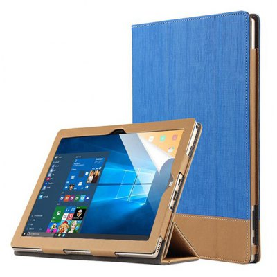 Full Body Canvas Grain PU Protective Case for Teclast Tbook 10 / Tbook 10S