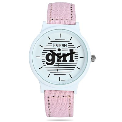 FEIFAN F085 - 4L Round Dial Women Quartz WatchWomens Watches<br>FEIFAN F085 - 4L Round Dial Women Quartz Watch<br><br>Band material: Canvas + Leather<br>Band size: 24.00 x 1.7 cm / 9.45 x 0.67 inches<br>Brand: FEIFAN<br>Case material: Alloy<br>Clasp type: Pin buckle<br>Dial size: 3.80 x 3.80 x 0.90 cm / 1.50 x 1.50 x 0.35 inches<br>Display type: Analog<br>Movement type: Quartz watch<br>Package Contents: 1 x FEIFAN F085 - 4L Watch, 1 x Box<br>Package size (L x W x H): 9.00 x 9.00 x 6.00 cm / 3.54 x 3.54 x 2.36 inches<br>Package weight: 0.1050 kg<br>People: Female table<br>Product size (L x W x H): 24.00 x 3.80 x 0.90 cm / 9.45 x 1.5 x 0.35 inches<br>Product weight: 0.0730 kg<br>Shape of the dial: Round<br>Watch color: Black, Pink, Blue, Brown,Light Gray, Blackish Green<br>Watch style: Casual<br>Water resistance : Life water resistant<br>Wearable length: 17.50 - 22.00 cm / 6.88 - 8.66 inches