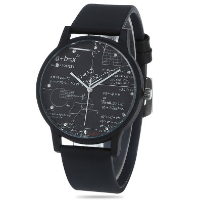 FEIFAN F033 Male Quartz Watch with Leather Strap