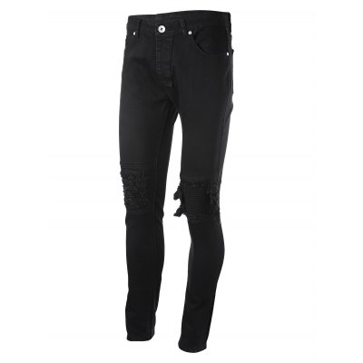 Slim Ripped Jeans with Straight LegMens Pants<br>Slim Ripped Jeans with Straight Leg<br><br>Package Contents: 1 x Pair of Jeans<br>Package size: 40.00 x 30.00 x 2.00 cm / 15.75 x 11.81 x 0.79 inches<br>Package weight: 0.5600 kg<br>Product weight: 0.5300 kg