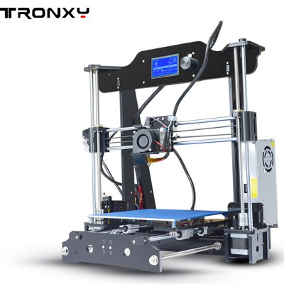 Tronxy X8 220 x 220 x 200mm Desktop DIY 3D Printer3D Printers, 3D Printer Kits<br>Tronxy X8 220 x 220 x 200mm Desktop DIY 3D Printer<br><br>Brand: Tronxy<br>Certificate: CE,FCC,RoHs<br>Current (mA): 20A<br>Engraving Area: 220 x 220 x 200mm<br>File format: STL, G-code<br>Host computer software: Cura,Repetier-Host<br>Language: English,French,German,Russian<br>Layer thickness: 0.1-0.4mm<br>LCD Screen: Yes<br>Material diameter: 1.75mm<br>Memory card offline print: SD card<br>Nozzle diameter: 0.4mm<br>Nozzle temperature: 170-275 Degree<br>Package size: 46.00 x 41.00 x 20.00 cm / 18.11 x 16.14 x 7.87 inches<br>Package weight: 9.0000 kg<br>Packing Contents: 1 x 3D Printer<br>Packing Type: unassembled packing<br>Platform temperature: Room temperature to 110 degree<br>Print speed: 40 - 120 mm/s<br>Product size: 50.00 x 48.00 x 40.00 cm / 19.69 x 18.9 x 15.75 inches<br>Product weight: 8.0000 kg<br>Supporting material: Wood, HIPS, PC, PLA, ABS<br>System support: Windows 7 ,  Mac, Windows XP<br>Type: DIY<br>Voltage: 110V/220V<br>XY-axis positioning accuracy: 0.012mm<br>Z-axis positioning accuracy: 0.004mm