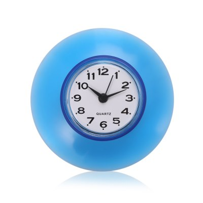 Kitchen Bathroom Wall Clock Waterproof Suction Cup