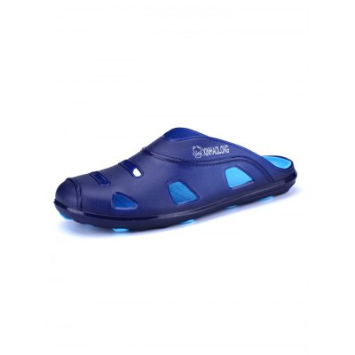 Hollow-out Environmental Beach SlippersMens Slippers<br>Hollow-out Environmental Beach Slippers<br><br>Color: Brown,Deep Blue,Green,Smoky Gray<br>Contents: 1 x Pair of Shoes<br>Materials: PU, Rubber<br>Package Size ( L x W x H ): 33.00 x 22.00 x 11.00 cm / 12.99 x 8.66 x 4.33 inches<br>Package Weights: 0.330kg<br>Size: 40,41,42,43,44,45<br>Type: Slippers