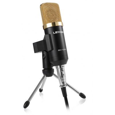 BM - 100FX USB Condenser Sound Recording Microphone with Stand Holder