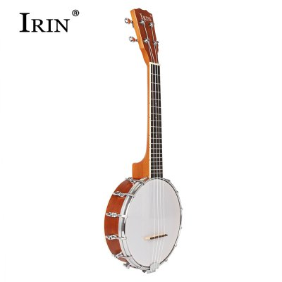 IRIN Four String Round Banjo Sapelli Basswood Fingerboard Instrument