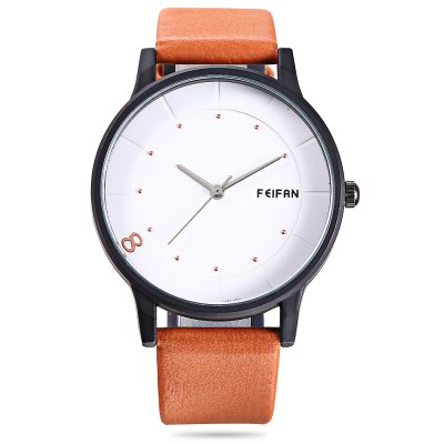 FEIFAN 62096G Male Leather Band Quartz WatchMens Watches<br>FEIFAN 62096G Male Leather Band Quartz Watch<br><br>Band material: Leather<br>Band size: 24.50 x 2 cm / 9.65 x 0.78 inches<br>Brand: FEIFAN<br>Case material: Alloy<br>Clasp type: Pin buckle<br>Dial size: 4.00 x 4.00 x 0.90 cm / 1.57 x 1.57 x 0.35 inches<br>Display type: Analog<br>Movement type: Quartz watch<br>Package Contents: 1 x FEIFAN 62096G Watch<br>Package size (L x W x H): 9.00 x 9.00 x 6.00 cm / 3.54 x 3.54 x 2.36 inches<br>Package weight: 0.1050 kg<br>Product size (L x W x H): 24.50 x 4.00 x 0.90 cm / 9.65 x 1.57 x 0.35 inches<br>Product weight: 0.0720 kg<br>Shape of the dial: Round<br>Watch color: Brown, Black, Deep Blue, Light Brown, Jacinth<br>Watch style: Business<br>Watches categories: Male table<br>Water resistance : Life water resistant<br>Wearable length: 18.00 - 22.50 cm / 7.08 - 8.85 inches