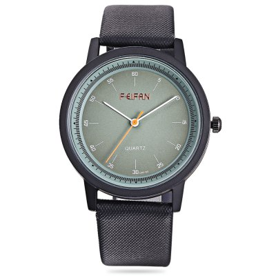 FEIFAN C051 - 53 Unisex Quartz Watch Colorful DialUnisex Watches<br>FEIFAN C051 - 53 Unisex Quartz Watch Colorful Dial<br><br>Band material: Canvas + Leather<br>Band size: 24.50 x x 2.00 cm / 9.65 x 0.78 inches<br>Brand: FEIFAN<br>Case material: Alloy<br>Clasp type: Pin buckle<br>Dial size: 4.00 x 4.00 x 0.90 cm / 1.57 x 1.57 x  0.35 inches<br>Display type: Analog<br>Movement type: Quartz watch<br>Package Contents: 1 x FEIFAN C051 - 53 Unisex Quartz Watch<br>Package size (L x W x H): 9.00 x 9.00 x 6.00 cm / 3.54 x 3.54 x 2.36 inches<br>Package weight: 0.1030 kg<br>People: Unisex table<br>Product size (L x W x H): 24.50 x 4.00 x 0.90 cm / 9.65 x 1.57 x 0.35 inches<br>Product weight: 0.0720 kg<br>Shape of the dial: Round<br>Watch color: Milk White, Blue, Deep Red<br>Watch style: Business<br>Water resistance : Life water resistant<br>Wearable length: 18.00 - 22.50 cm / 7.08 - 8.85 inches