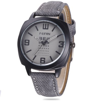 FEIFAN F080 - 1 Men Quartz Watch Canvas + Leather Band