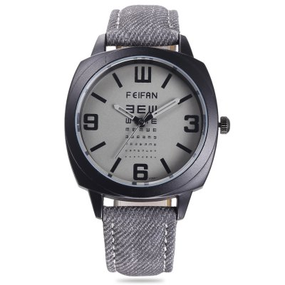 FEIFAN F080 - 1 Men Quartz Watch Canvas + Leather BandMens Watches<br>FEIFAN F080 - 1 Men Quartz Watch Canvas + Leather Band<br><br>Band material: Canvas + Leather<br>Band size: 24.00 x 1.80 cm / 9.45 x 0.70 inches<br>Brand: FEIFAN<br>Case material: Alloy<br>Clasp type: Pin buckle<br>Dial size: 3.70 x 3.70 x 1.10 cm / 1.46 x 1.46 x 0.43 inches<br>Display type: Analog<br>Movement type: Quartz watch<br>Package Contents: 1 x FEIFAN F080 - 1 Watch<br>Package size (L x W x H): 9.00 x 9.00 x 6.00 cm / 3.54 x 3.54 x 2.36 inches<br>Package weight: 0.1020 kg<br>Product size (L x W x H): 24.00 x 3.70 x 1.10 cm / 9.45 x 1.46 x 0.43 inches<br>Product weight: 0.0700 kg<br>Shape of the dial: Round<br>Watch color: Coffee, Black, Milk White, Deep Blue<br>Watch style: Business<br>Watches categories: Male table<br>Wearable length: 18.00 - 22.50 cm / 7.08 - 8.85 inches