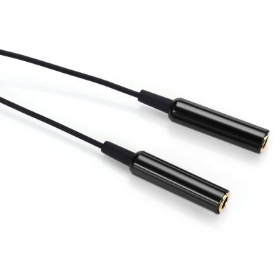 1-to-2 3.5mm Gold-plated Audio Adapter Cable