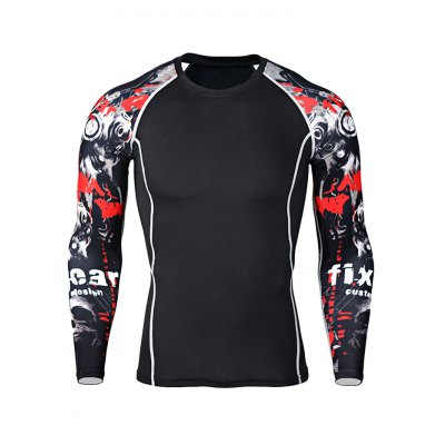 Quick-drying Training Fitness T ShirtsWeight Lifting Clothes<br>Quick-drying Training Fitness T Shirts<br><br>Color: Black<br>Features: Breathable, High elasticity, Quick Dry<br>Gender: Men<br>Material: Polyester<br>Package Content: 1 x T Shirt<br>Package size: 30.00 x 25.00 x 2.00 cm / 11.81 x 9.84 x 0.79 inches<br>Package weight: 0.2300 kg<br>Product weight: 0.1900 kg<br>Size: 2XL,3XL,4XL,L,M,XL<br>Types: Long Sleeves