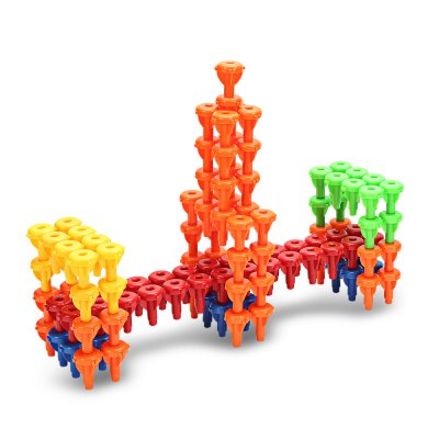 Abs construction building brick toy