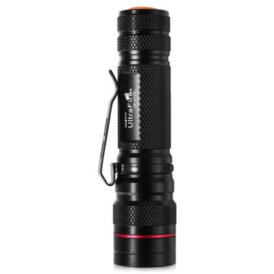 UltraFire UF - AT33 LED Rechargeable FlashlightLED Flashlights<br>UltraFire UF - AT33 LED Rechargeable Flashlight<br><br>Battery Included or Not: No<br>Battery Quantity: 1pcs 18650 lithium-ion battery ( not included )<br>Battery Type: 18650<br>Body Material: Aluminium Alloy<br>Brand: Ultrafire<br>Color Temperature: 6000 - 7500K<br>Emitters: Cree XP-E Q5<br>Emitters Quantity: 1<br>Feature: Adjustable brightness, Pocket Clip<br>Flashlight size: Mini<br>Flashlight Type: Handheld<br>Function: Hiking, Exploring, Emergency, EDC, Camping<br>Light color: Cool White<br>Light Modes: High,Low,Mid,SOS,Strobe<br>Lumens Range: 500-1000Lumens<br>Luminous Flux: 600Lm<br>Model: UF - AT33<br>Package Contents: 1 x UltraFire UF - AT33 LED Flashlight, 1 x Knife<br>Package size (L x W x H): 5.00 x 5.00 x 15.00 cm / 1.97 x 1.97 x 5.91 inches<br>Package weight: 0.1000 kg<br>Product size (L x W x H): 2.50 x 2.50 x 11.00 cm / 0.98 x 0.98 x 4.33 inches<br>Product weight: 0.0600 kg<br>Reflector: Aluminum Smooth Reflector<br>Switch Location: Tail Cap<br>Waterproof Standard: IPX-4 Standard Water-resistant<br>Working Voltage: 3.7V