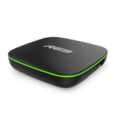 Sunvell R69 TV BoxTV Box<br>Sunvell R69 TV Box<br><br>5G WiFi: No<br>Antenna: No<br>Audio format: AAC, FLAC, MP3, OGG, RM, WMA<br>Bluetooth: Unsupport<br>Brand: Sunvell<br>Camera: Without<br>Core: Quad Core<br>CPU: ARM Cortex-A7<br>Decoder Format: H.264<br>External Subtitle Supported: No<br>GPU: Mali400MP2<br>HDMI Function: HDCP<br>HDMI Version: 1.4<br>Language: English,French,Germany,Italian<br>Max. Extended Capacity: 32G<br>Model: R69<br>Other Functions: 3D Games<br>Package Contents: 1 x TV Box, 1 x Remote Control, 1 x HDMI Cable, 1 x Power Adapter<br>Package size (L x W x H): 15.00 x 11.00 x 7.00 cm / 5.91 x 4.33 x 2.76 inches<br>Package weight: 0.4200 kg<br>Photo Format: PNG, JPG, JPEG<br>Power Consumption.: 5W<br>Power Supply: Charge Adapter<br>Power Type: External Power Adapter Mode<br>Processor: Allwinner H2<br>Product size (L x W x H): 9.00 x 9.50 x 1.80 cm / 3.54 x 3.74 x 0.71 inches<br>Product weight: 0.2000 kg<br>RAM: 1G<br>RAM Type: DDR3<br>RJ45 Port Speed: 100M<br>ROM: 8G<br>Support 5.1 Surround Sound Output: No<br>System: Android 4.4<br>System Activation: Yes<br>System Bit: 32Bit<br>Type: TV Box<br>Video format: MPEG, AVI, DAT, VC-1, MOV, ISO, WMV, MPG, MP4, MKV<br>WiFi Chip: XR819