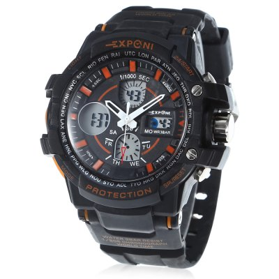 EXPONI 3205 Backlight Outdoor Sports Digital Quartz Watch