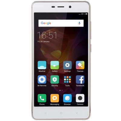 Xiaomi Redmi 4 4G SmartphoneCell phones<br>Xiaomi Redmi 4 4G Smartphone<br><br>2G: GSM B2/B3/B5/B8<br>3G: WCDMA B1/B2/B5/B8<br>4G: FDD-LTE Band 1/3/7<br>Additional Features: People, Browser, Bluetooth, Alarm, 4G, 3G, Calculator, Calendar, Fingerprint Unlocking, GPS, MP3, MP4, Wi-Fi<br>Auto Focus: Yes<br>Back camera: 13.0MP, with flash light and AF<br>Battery Capacity (mAh): 4100mAh (typ) / 4000mAh (min)<br>Battery Type: Non-removable<br>Bluetooth Version: Bluetooth V4.2<br>Brand: Xiaomi<br>Camera Functions: HDR<br>Camera type: Dual cameras (one front one back)<br>CDMA: CDMA 2000/1X BC0<br>Cell Phone: 1<br>Cores: Octa Core, 2.0GHz<br>CPU: Qualcomm Snapdragon 625 (MSM8953)<br>E-book format: TXT<br>External Memory: TF card up to 128GB (not included)<br>Flashlight: Yes<br>Front camera: 5.0MP<br>Games: Android APK<br>GPU: Adreno 506<br>I/O Interface: 1 x Micro SIM Card Slot, 1 x Nano SIM Card Slot, 3.5mm Audio Out Port, Micro USB Slot, Speaker, TF/Micro SD Card Slot<br>Language: Indonesian, Malay, German, English, Spanish, French, Italian, Magyar, Uzbek,  Polish, Portuguese, Romanian, Slovak, Vietnamese, Turkish, Czech, Russian, Ukrainian,  Greek, Hindi, Marathi, Bengli, Guja<br>Music format: WAV, OGG, MP3, AAC<br>Network type: GSM+CDMA+WCDMA+TD-SCDMA+FDD-LTE+TDD-LTE<br>OS: MIUI 8<br>Package size: 16.20 x 9.10 x 5.20 cm / 6.38 x 3.58 x 2.05 inches<br>Package weight: 0.3600 kg<br>Picture format: JPEG, GIF, PNG, BMP<br>Pixels Per Inch (PPI): 441<br>Power Adapter: 1<br>Product size: 14.13 x 6.96 x 0.89 cm / 5.56 x 2.74 x 0.35 inches<br>Product weight: 0.1550 kg<br>RAM: 3GB RAM<br>ROM: 32GB<br>Screen resolution: 1920 x 1080 (FHD)<br>Screen size: 5.0 inch<br>Screen type: Capacitive<br>Sensor: Accelerometer,Ambient Light Sensor,Gravity Sensor,Gyroscope,Proximity Sensor<br>Service Provider: Unlocked<br>SIM Card Slot: Dual Standby, Dual SIM<br>SIM Card Type: Nano SIM Card, Micro SIM Card<br>SIM Needle: 1<br>TD-SCDMA: TD-SCDMA B34/B39<br>TDD/TD-LTE: TD-LTE B38/B39/B40/B41(2555-26