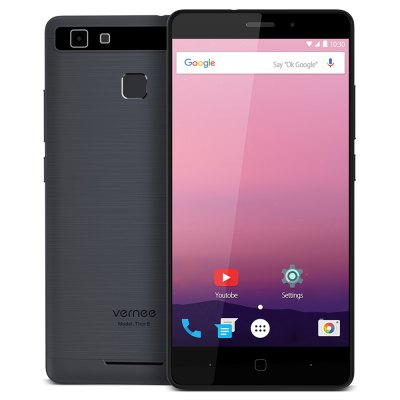 Vernee Thor E 4G SmartphoneCell phones<br>Vernee Thor E 4G Smartphone<br><br>2G: GSM 850/900/1800/1900MHz<br>3G: WCDMA 900/2100MHz<br>4G: FDD-LTE 800/1800/2100/2600MHz<br>Additional Features: Calculator, Calendar, Browser, Bluetooth, Alarm, 4G, 3G, Camera, Fingerprint recognition, Sound Recorder, Fingerprint Unlocking, GPS, MP3, MP4, People, Wi-Fi<br>Auto Focus: Yes<br>Back-camera: 8.0MP ( SW 13.0MP ) with flash light and AF<br>Battery Capacity (mAh): 5020mAh (typ)<br>Battery Type: Non-removable<br>Bluetooth Version: V4.0<br>Brand: Vernee<br>Camera type: Dual cameras (one front one back)<br>Cell Phone: 1<br>Cores: Octa Core, 1.3GHz<br>CPU: MTK6753 64bit<br>E-book format: TXT<br>English Manual : 1<br>External Memory: TF card up to 128GB (not included)<br>Flashlight: Yes<br>Front camera: 2.0MP ( SW 5.0MP )<br>Games: Android APK<br>GPU: Mali-T720<br>I/O Interface: Micophone, 3.5mm Audio Out Port, 2 x Nano SIM Slot, TF/Micro SD Card Slot, Speaker, Micro USB Slot<br>Language: Multi language<br>Music format: WAV, FLAC, AAC, MP3<br>Network type: GSM+WCDMA+FDD-LTE<br>OS: Android 7.0<br>Package size: 15.50 x 8.50 x 4.00 cm / 6.1 x 3.35 x 1.57 inches<br>Package weight: 0.4360 kg<br>Power Adapter: 1<br>Product size: 14.40 x 7.01 x 0.82 cm / 5.67 x 2.76 x 0.32 inches<br>Product weight: 0.1490 kg<br>RAM: 3GB RAM<br>ROM: 16GB<br>Screen resolution: 1280 x 720 (HD 720)<br>Screen size: 5.0 inch<br>Screen type: Capacitive<br>Sensor: Ambient Light Sensor,E-Compass,Gravity Sensor,Hall Sensor,Proximity Sensor<br>Service Provider: Unlocked<br>SIM Card Slot: Dual SIM, Dual Standby<br>SIM Card Type: Nano SIM Card<br>SIM Needle: 1<br>Touch Focus: Yes<br>Type: 4G Smartphone<br>USB Cable: 1<br>Video format: H.264, MPEG4, 3GP<br>WIFI: 802.11a/b/g/n wireless internet<br>Wireless Connectivity: 4G, 3G, Bluetooth, Dual Band WiFi, GSM, WiFi, A-GPS