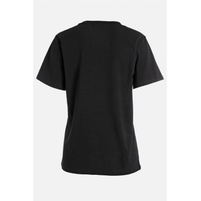 Plus Size Solid Color T Shirt with V Neck