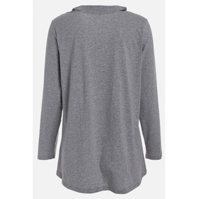 Plus Size Long Sleeve T Shirt with V Neck