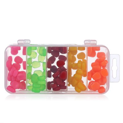 125pcs 5-color Corn-shaped Soft Fishing Bait with Storage BoxFishing Baits and Hooks<br>125pcs 5-color Corn-shaped Soft Fishing Bait with Storage Box<br><br>Package Contents: 125 x Corn- shaped Fishing Bait, 1 x Storage Box<br>Package size (L x W x H): 15.00 x 7.00 x 3.00 cm / 5.91 x 2.76 x 1.18 inches<br>Package weight: 0.1100 kg<br>Product size (L x W x H): 14.50 x 6.50 x 2.50 cm / 5.71 x 2.56 x 0.98 inches<br>Product weight: 0.0870 kg<br>Type: Soft Bait