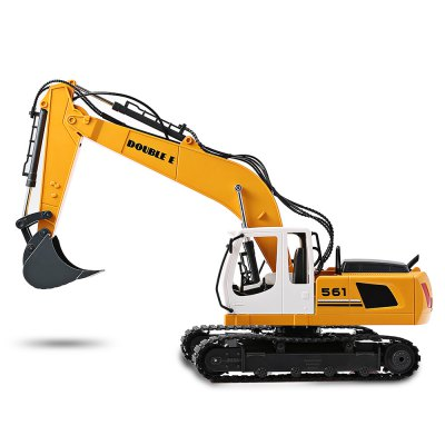 Double E E561 - 001 1:16 2-in-1 RC Alloy Excavator - RTRRC Cars<br>Double E E561 - 001 1:16 2-in-1 RC Alloy Excavator - RTR<br><br>Brand: Double E<br>Car Power: Built-in rechargeable battery<br>Channel: 6-Channels<br>Charging Time: 5 Hours<br>Detailed Control Distance: 25~30m<br>Drive Type: 2 WD<br>Features: Radio Control<br>Material: Alloy, Electronic Components, Plastic<br>Motor Type: Brushed Motor<br>Package Contents: 1 x RC Excavator ( Battery Included ), 1 x Transmitter, 1 x USB Cable, 1 x English Manual<br>Package size (L x W x H): 65.50 x 19.20 x 34.00 cm / 25.79 x 7.56 x 13.39 inches<br>Package weight: 2.7500 kg<br>Product size (L x W x H): 63.00 x 16.50 x 43.00 cm / 24.8 x 6.5 x 16.93 inches<br>Product weight: 2.3000 kg<br>Proportion: 1:16<br>Racing Time: About 30mins<br>Remote Control: 2.4GHz Wireless Remote Control<br>Transmitter Power: 2 x 1.5V AA battery (not included)<br>Type: Engineering Car