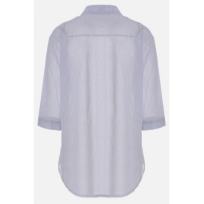Front Pocket Half Sleeve Pinstripe ShirtsBlouses<br>Front Pocket Half Sleeve Pinstripe Shirts<br><br>Collar: Stand Collar,Turn-down Collar<br>Elasticity: Nonelastic<br>Embellishment: Pockets<br>Material: Cotton, Polyester<br>Package Content: 1 x Shirt<br>Package size (L x W x H): 37.00 x 30.00 x 2.00 cm / 14.57 x 11.81 x 0.79 inches<br>Package weight: 0.1500 kg<br>Pattern Type: Stripe<br>Product weight: 0.1000 kg<br>Season: Fall, Summer, Spring<br>Shirt Length: Regular<br>Sleeve Length: Half Sleeves<br>Style: Fashion